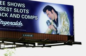 BILLBOARD IN LAS VEGAS FOR FITZGERALDS CASINO